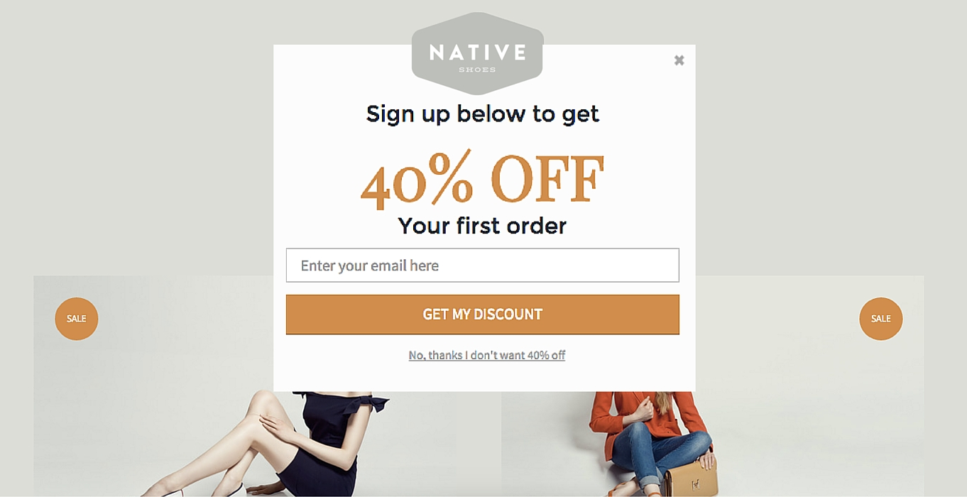 exit popup coupon code