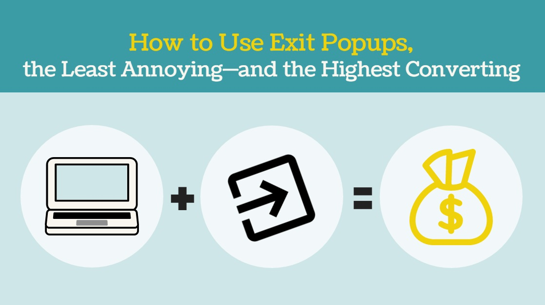 how to use exit popups