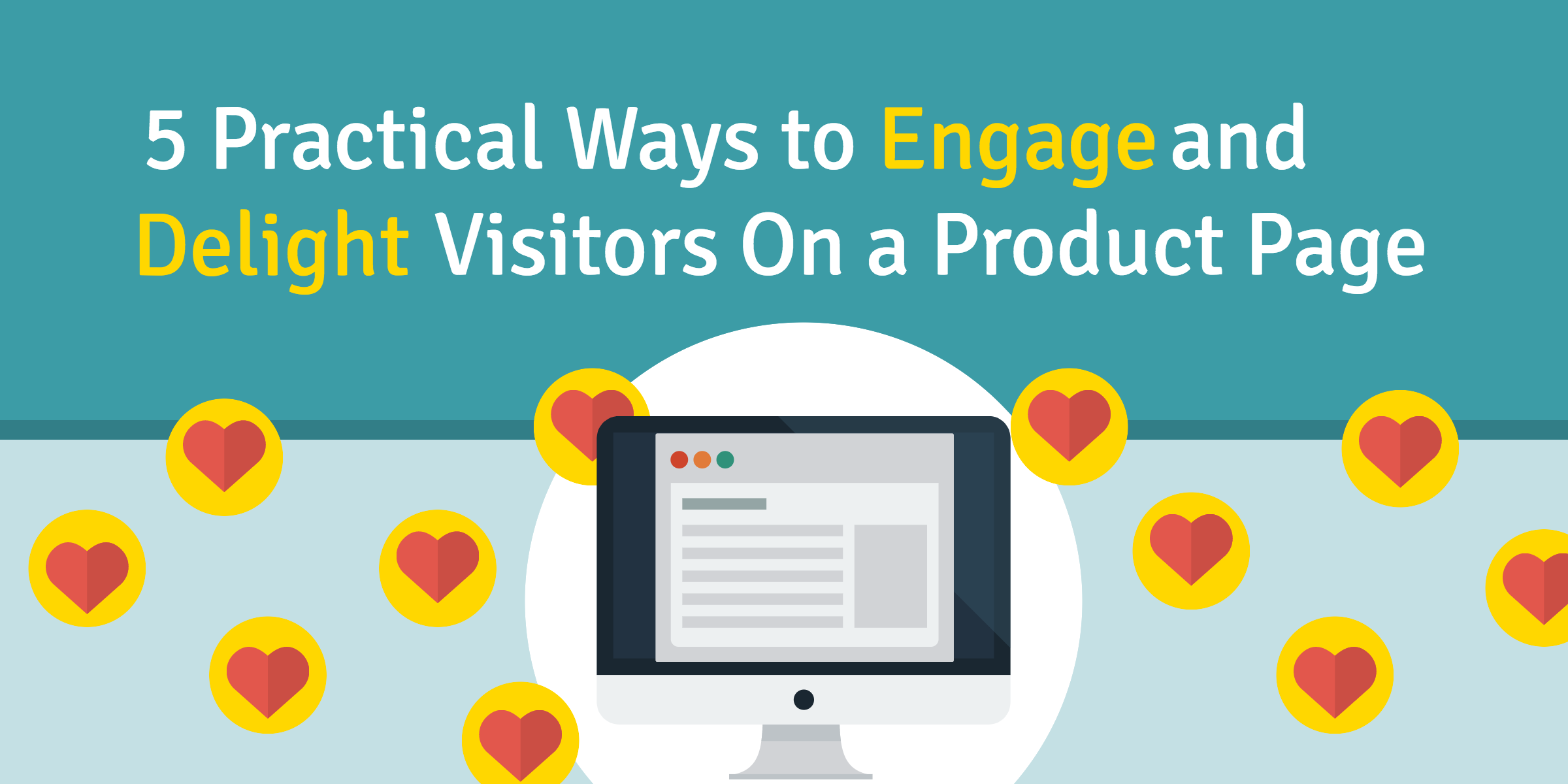 engage visitors on ecommerce product page