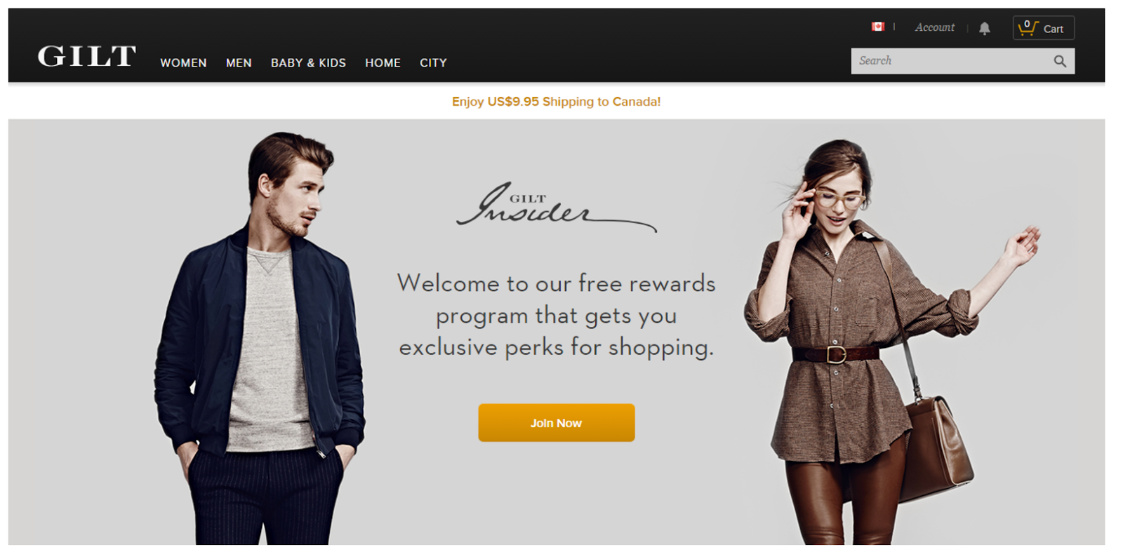 Gilt's customer loyalty program
