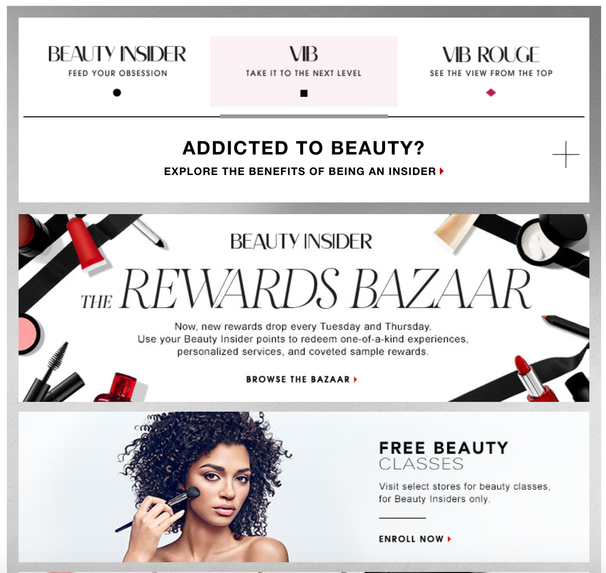 Sephora's customer loyalty program