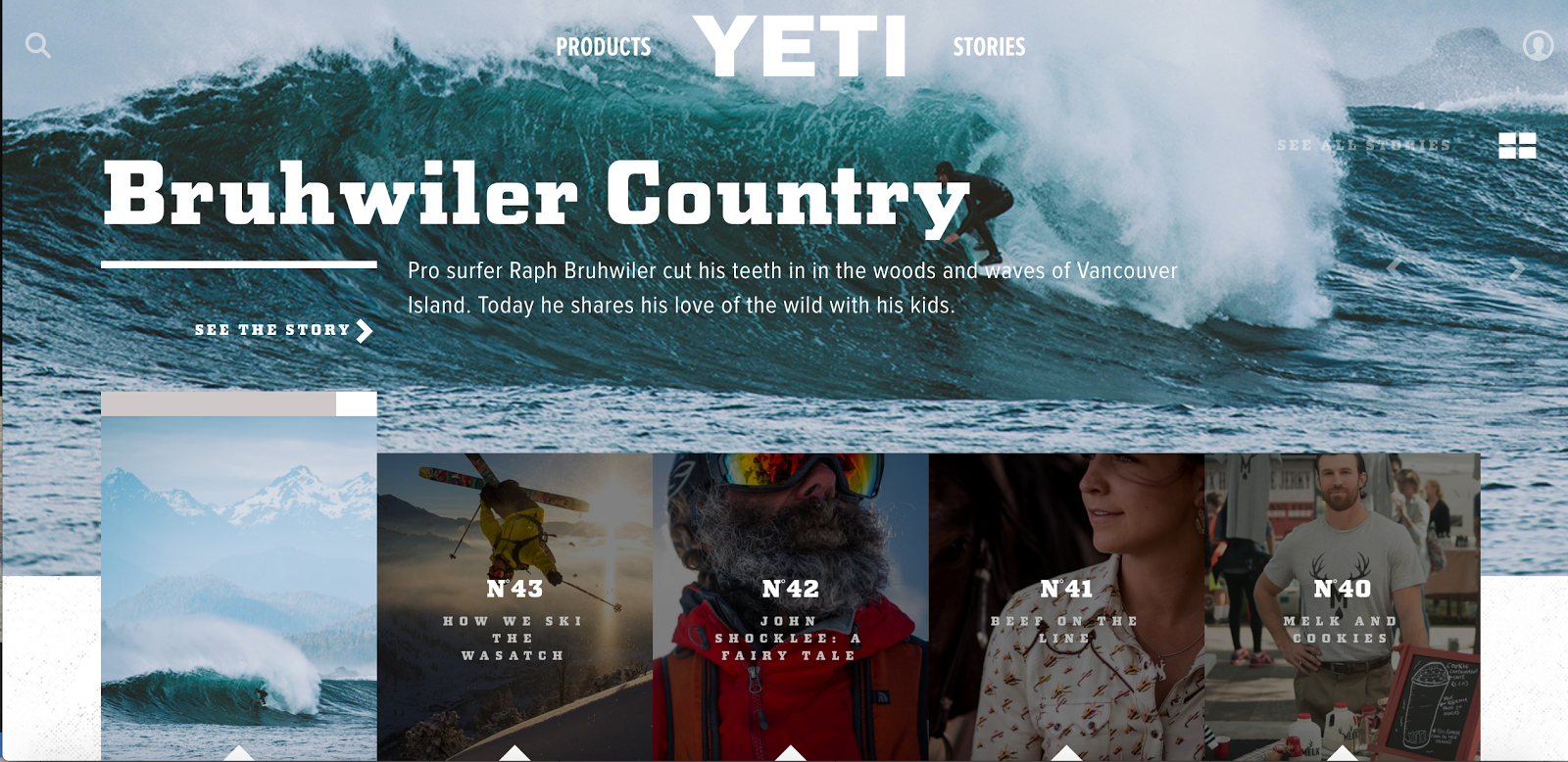 Example of stories produced by Yeti