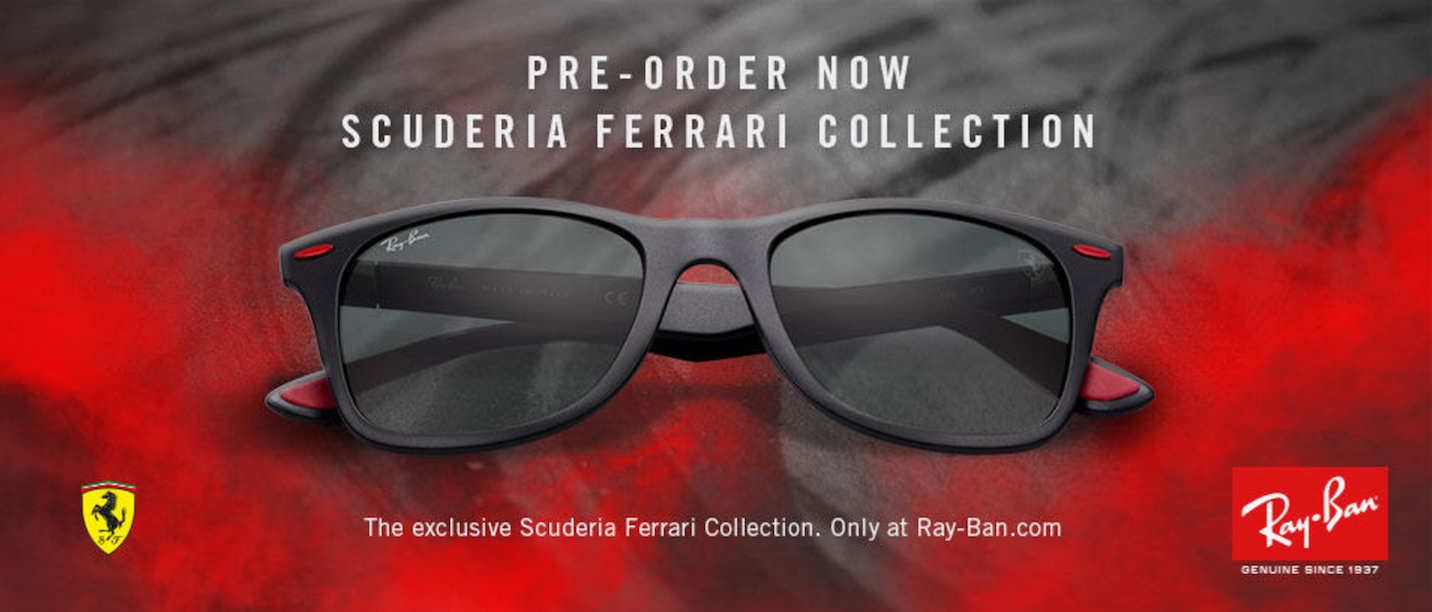 Ray Ban collaboration with Ferrari