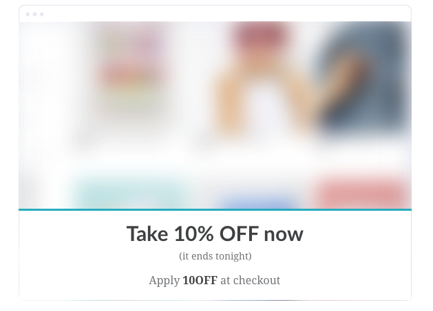 site-wide promotion popup