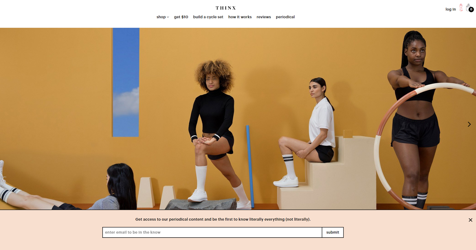 Thinx's email bar