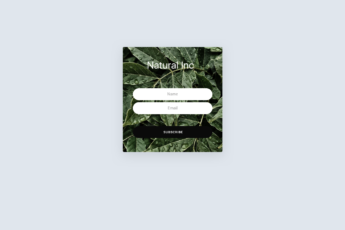 A mobile email popup template