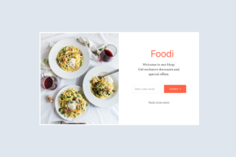 An email lightbox template