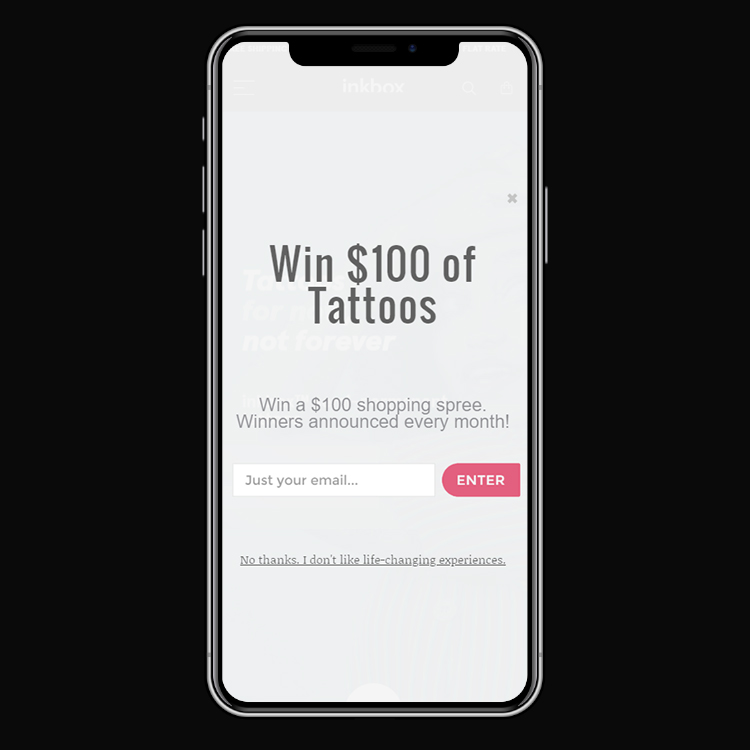 Inkbox Mobile Popup Final