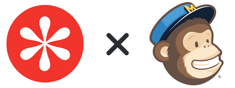 MailChimp and WisePops logos