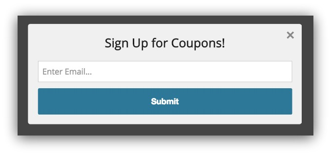 An ugly popup found on a WordPress website.