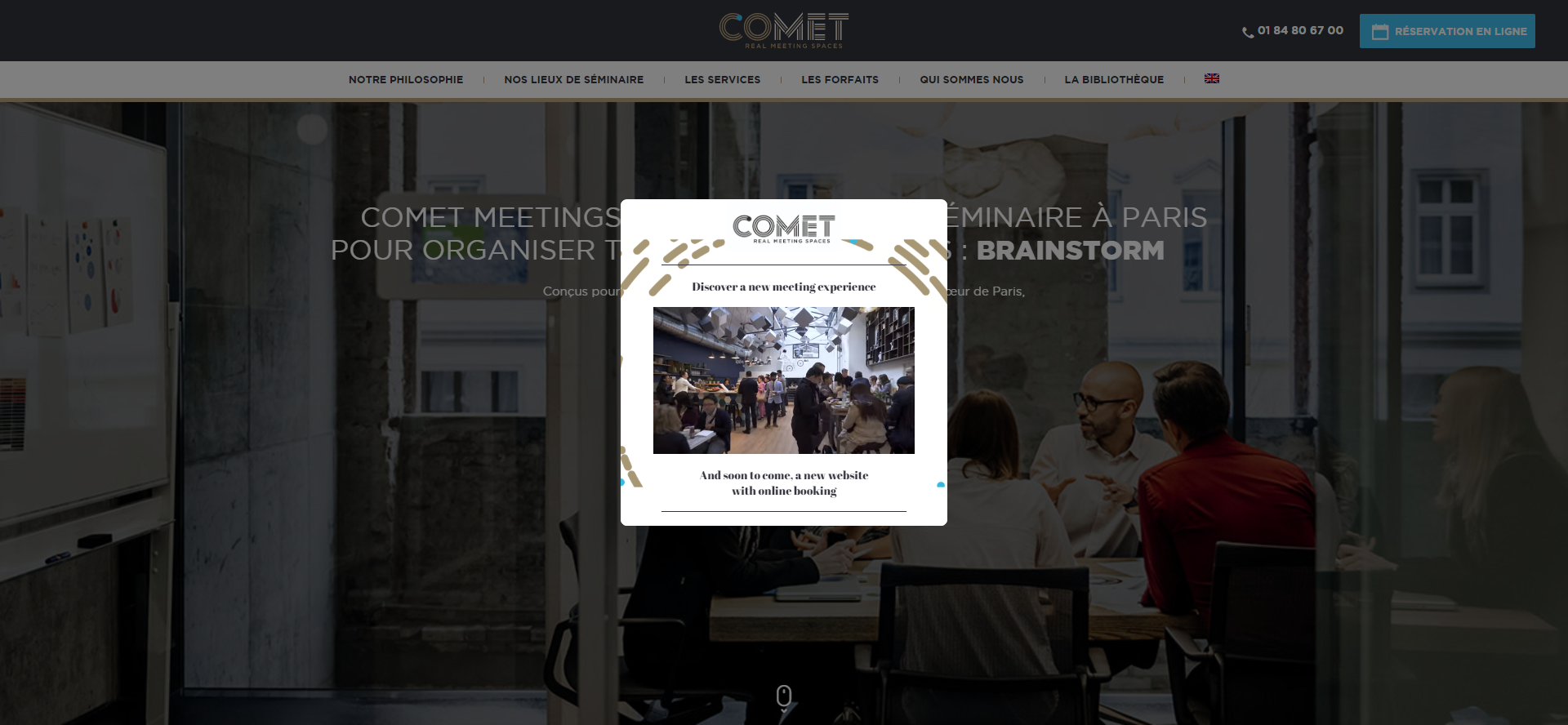 A video overlay on Comet Meetings' website