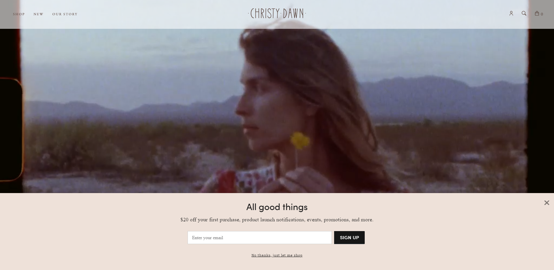 Christy Dawn's Shopify Popup