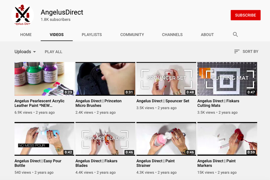 AngelusDirect's youtube channel