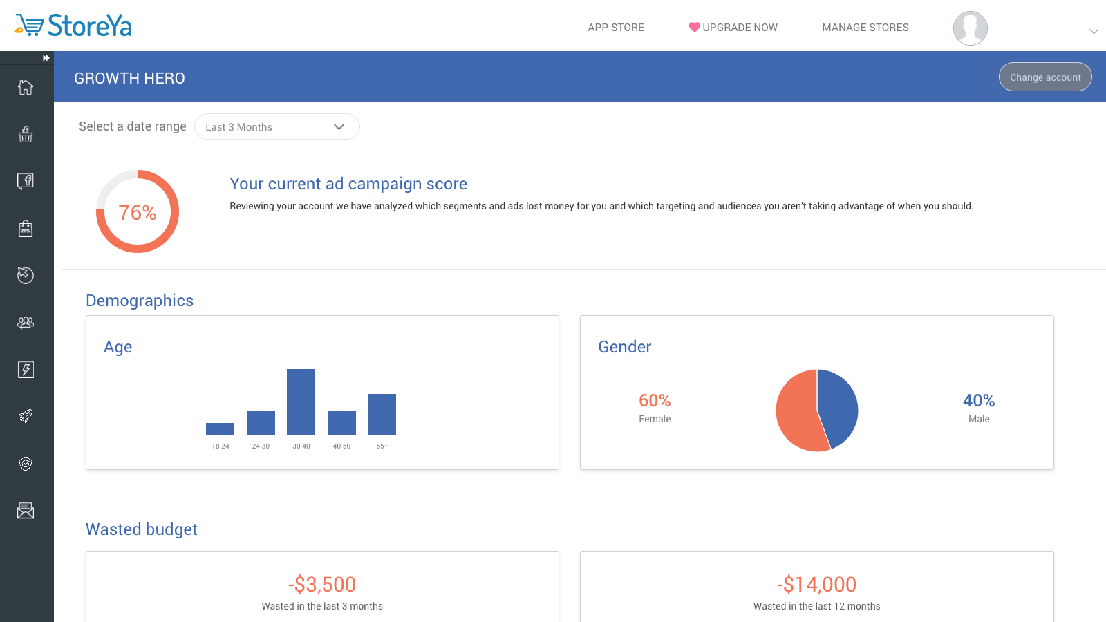 Facebook Ads Audit Growth Hero - Storeya