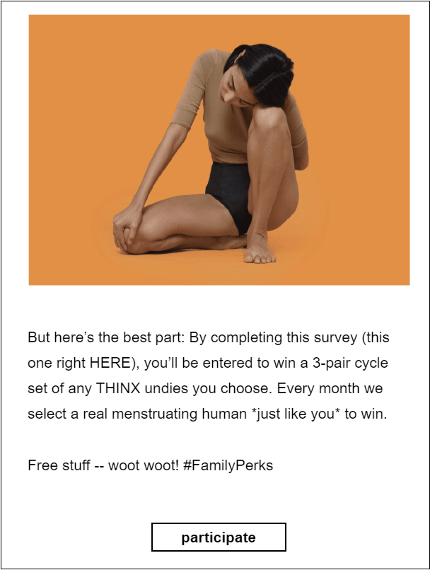Thinx's survey
