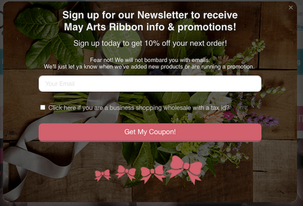 Newsletter Signup Discount