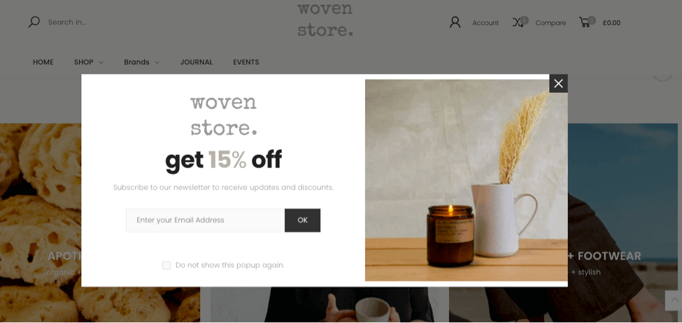 Woven Store popup