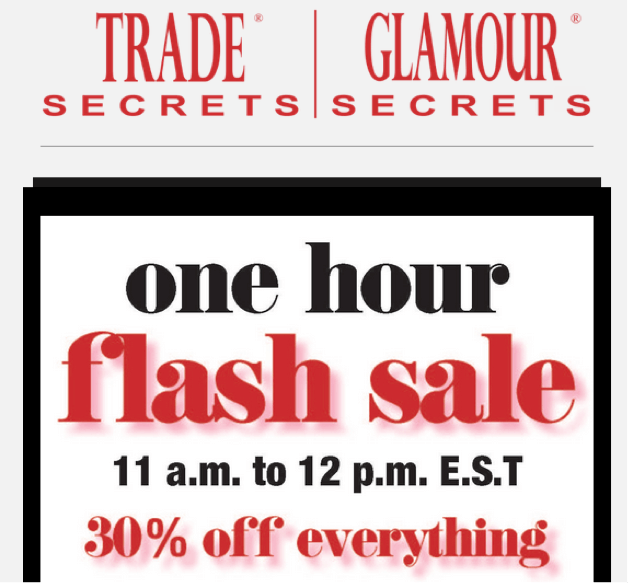 Black Friday flash sale popup example