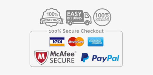 Secure payment logos